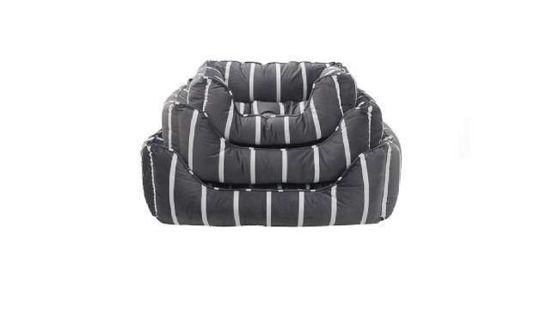 Εικόνα της Rosewood Κρεββάτι Grey Velvet Stripes 80cm