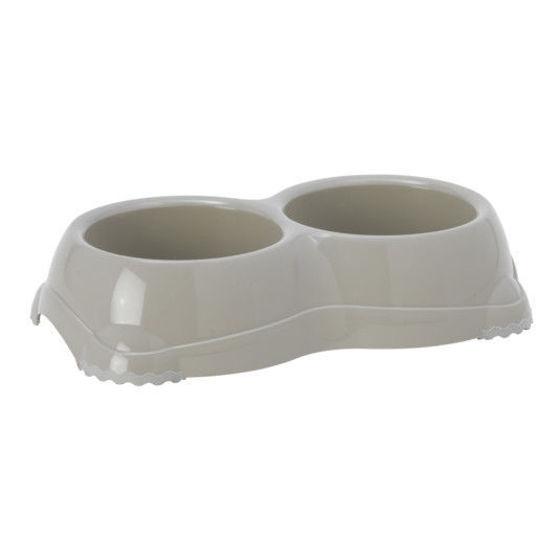 Εικόνα της Moderna Πλαστικό Διπλό Μπολ Με Αντιολισθητική Βάση