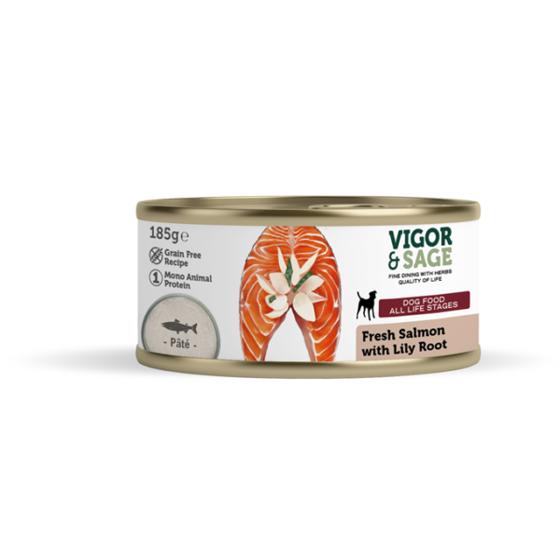 Εικόνα της Vigor & Sage Fresh Salmon & Lily Root 185gr