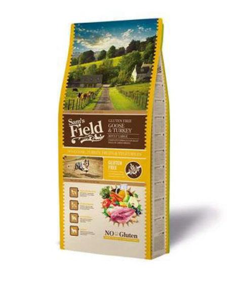 Εικόνα της Sam's Field No Gluten Adult Large Χήνα & Γαλοπούλα 13kg